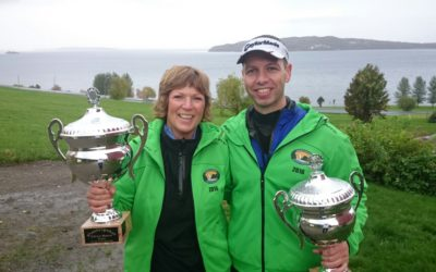 Linda Jørgensen og Raymond Olsen ble vinnere av Røkenes Masters 2016